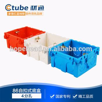 86 self-locking junction box pvc electrical pipe fitting