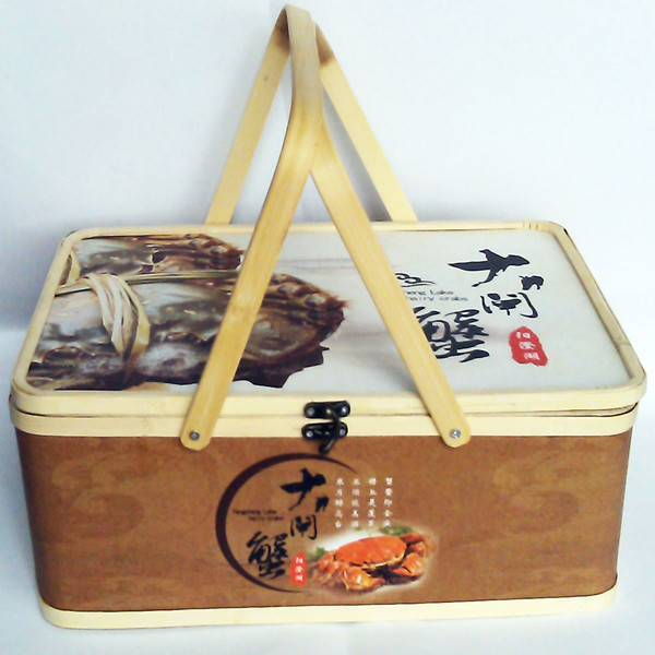 Customized stone paper bamboo basket packaging