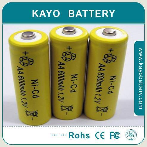 Ni-CD AA battery with 600mAh