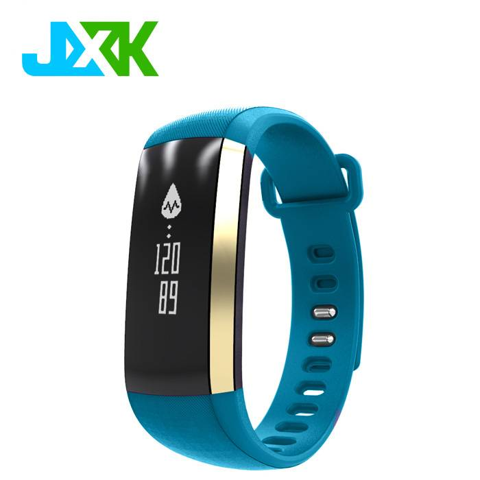 Waterproof bluetooth Digital blood pressure monitor heart rate monitor smart bracelet JXK-M2