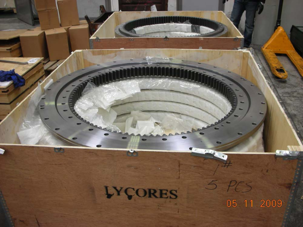slewing ring for cxcavators