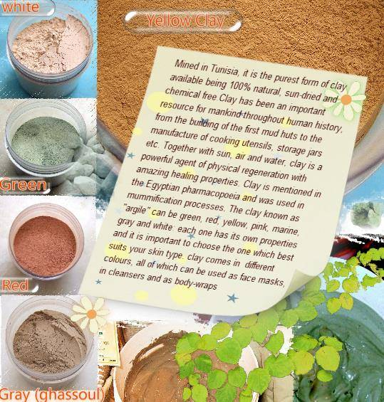 Green superfine Clay for face masks