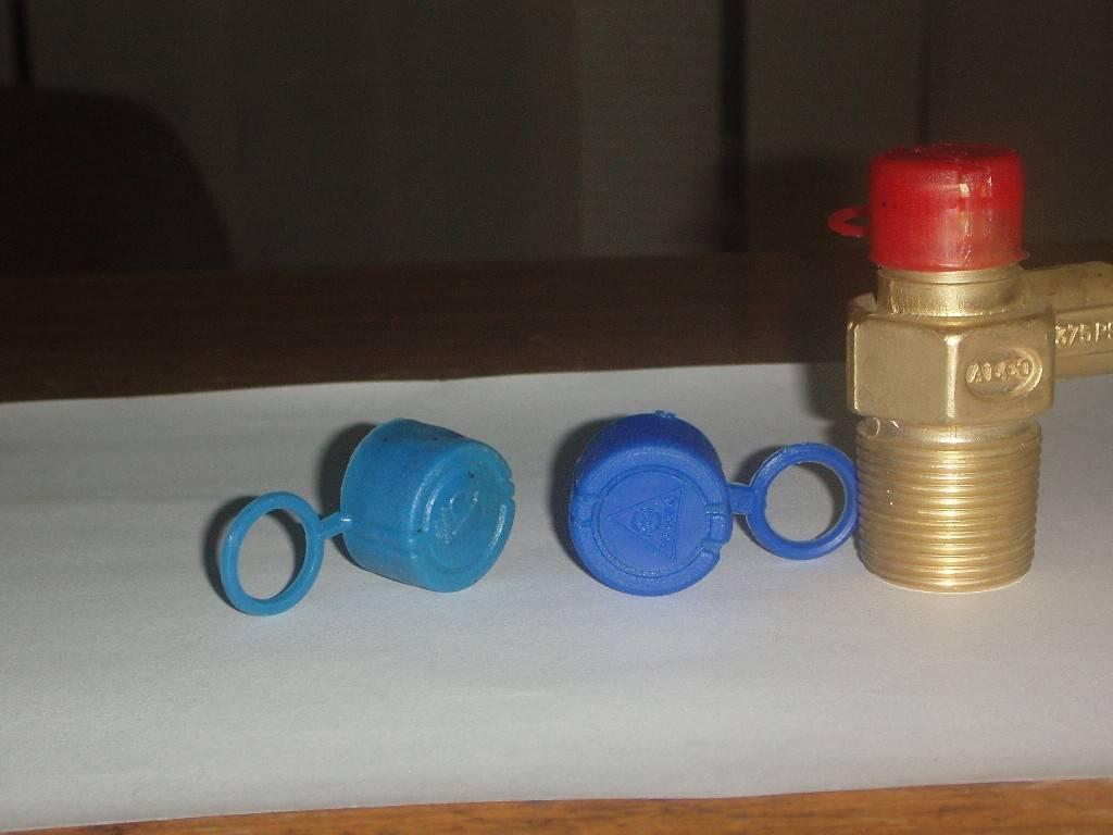 Plastic caps/ seals for LPG Cylinder valves