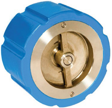 Wafer/flanged silent check valve