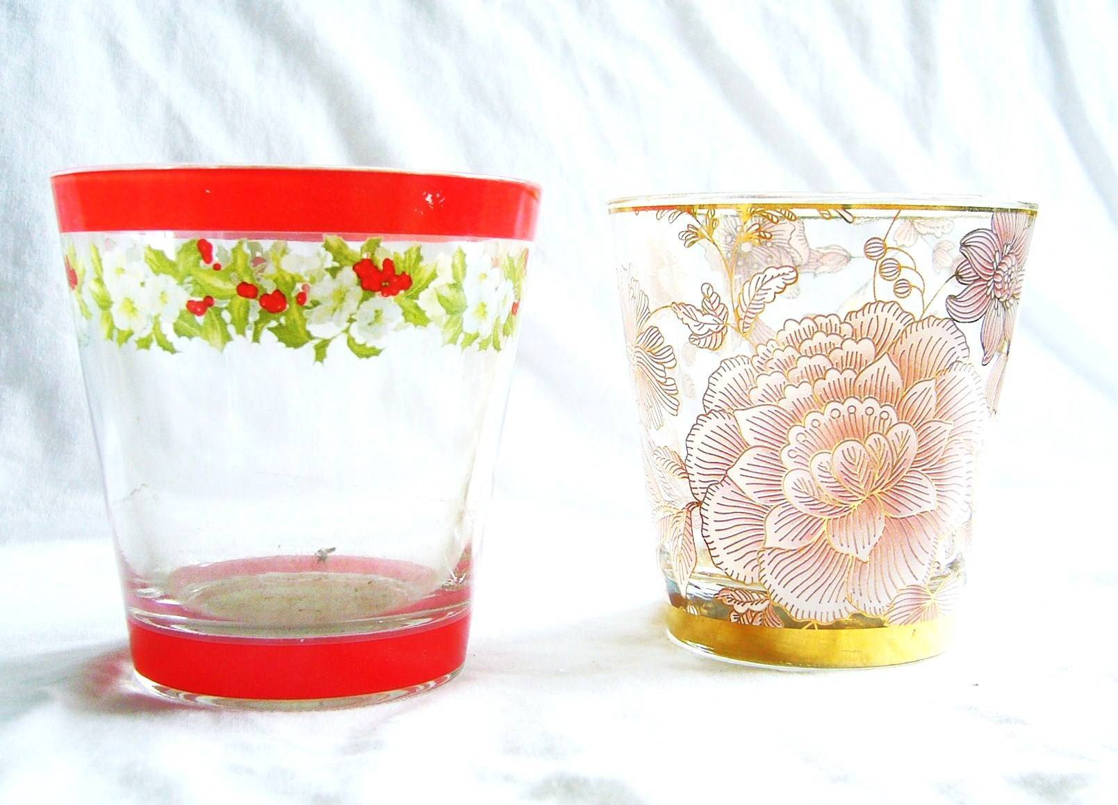applique glass cup
