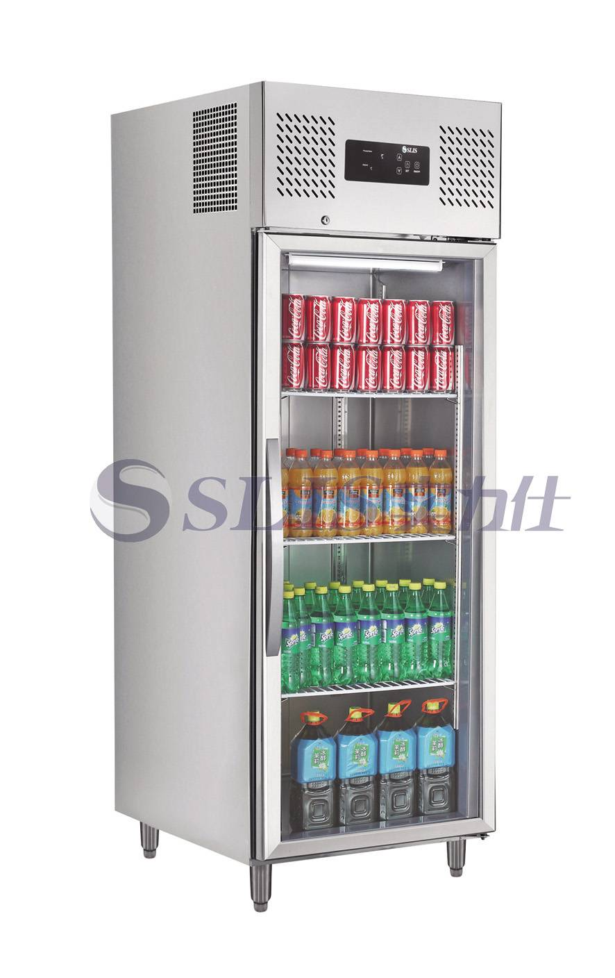 Fan Cooling Display Stainless Steel Commercial Refrigerator,600L,LED Touch Controller