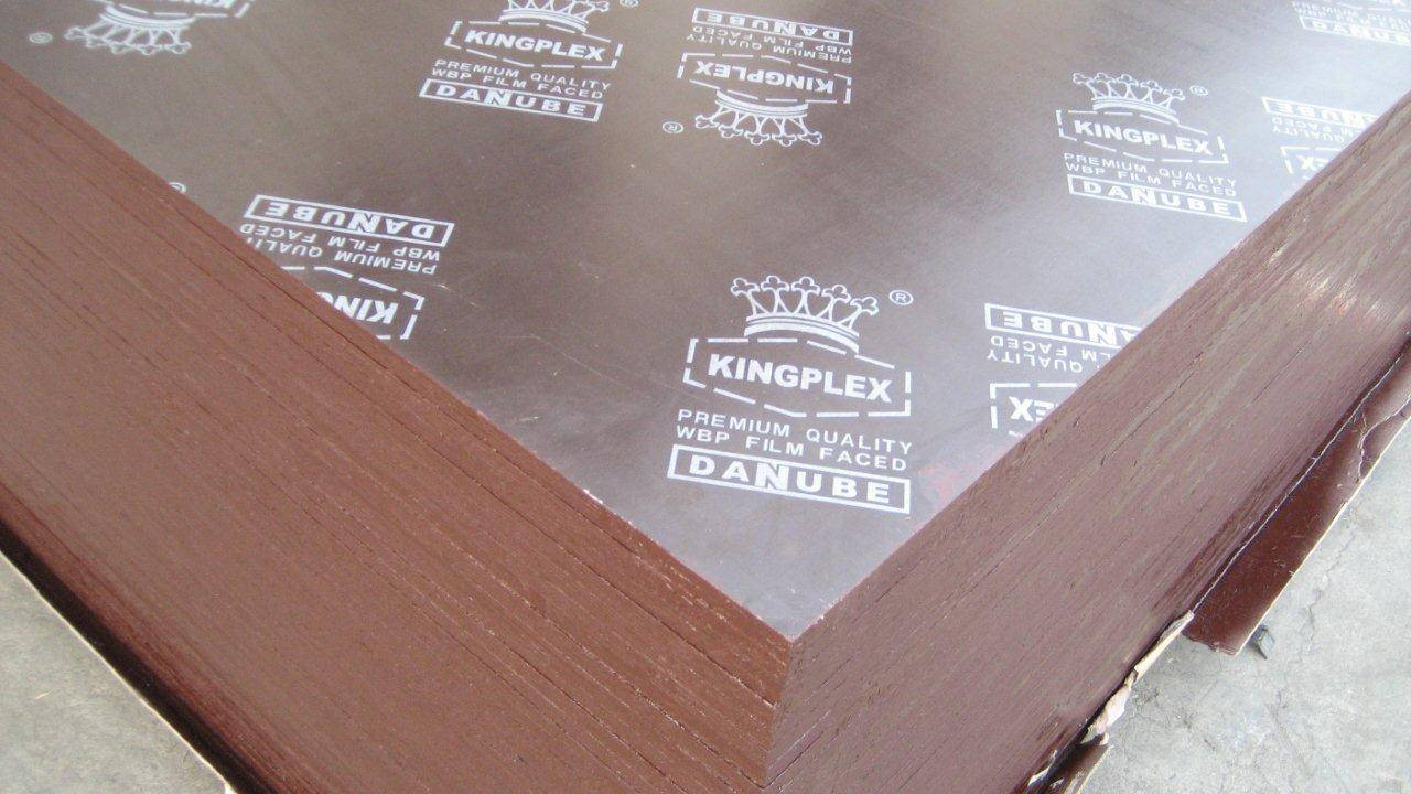 Brown film faced plywood with Kingplex brand