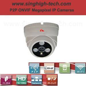 P2p Onvif 720p 1.0MP Waterproof IR IP Camera (NS5034)