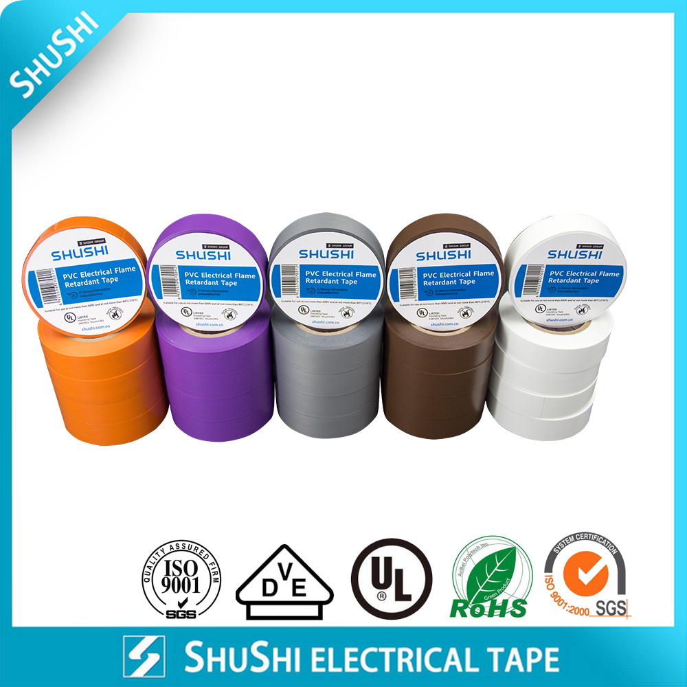 PVC electrical Flame retardant tape UL Approval