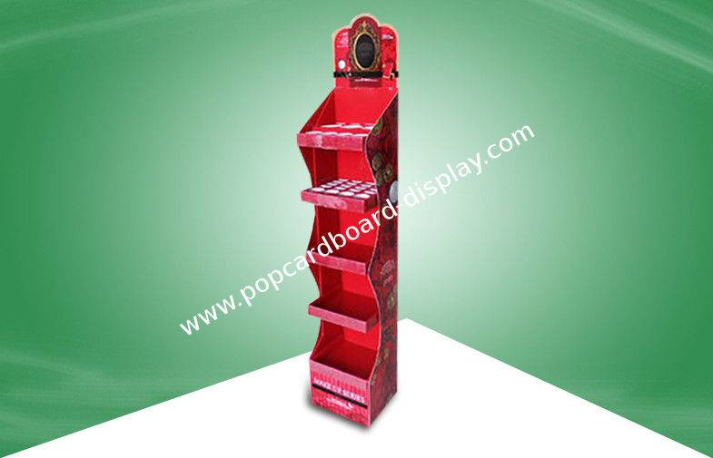 cardboard free standing dispaly Unit With Five Shelf Promoting Diferent Items & Size