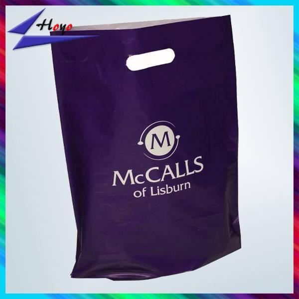 Shopping Industrial Use PE Plastic Type die cut plastic bag