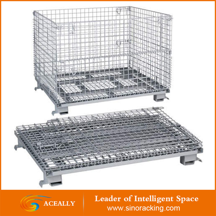 Heavy Duty Q235 Steel Foldable Wire Mesh Cage