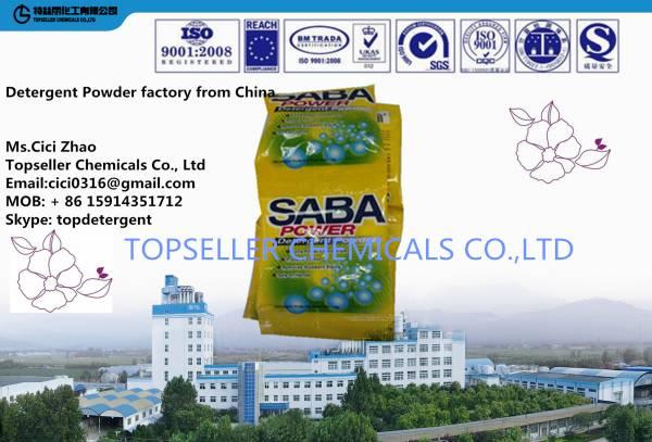 Africa SABA 15g 30g 35g Sachet small bag Detergent Powder Soap Powder washing powder manufacturer