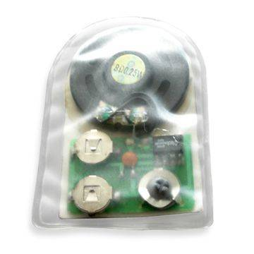 Waterproof Sound Module with Chip, Optional Message Prerecording, and Light Sensor Control