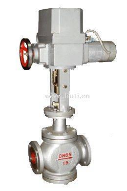 Electric straight regulating valve