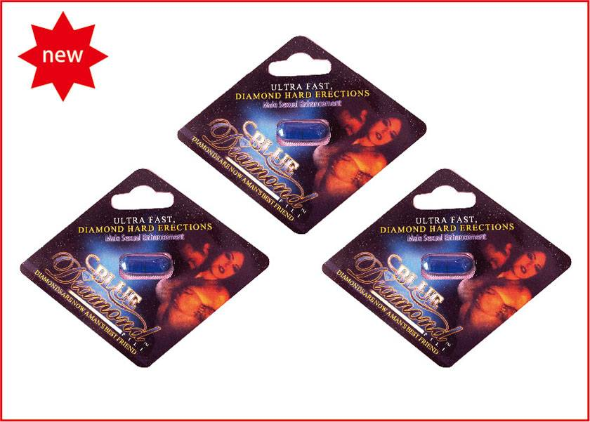 Healthy Blue Diamond For Natural Herbs Male Enhancement With 24 Capsules / Box