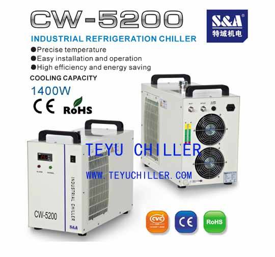 CW5200 Water cooled chiller for electric spindle