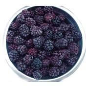 IQF blackberries, frozen blackberries