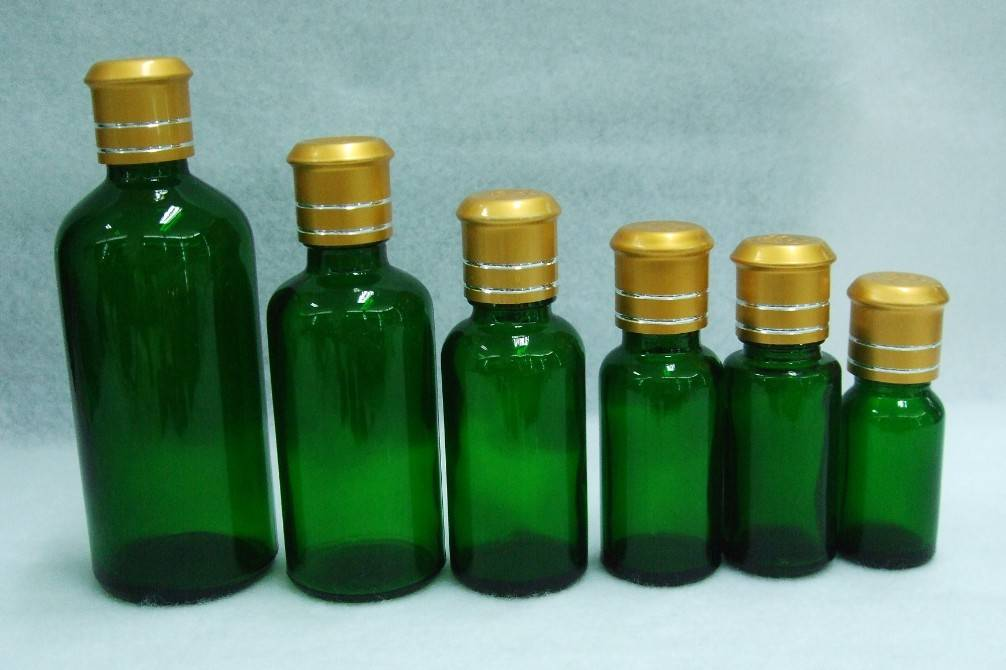 Selling green glass bottle with aluminum cap