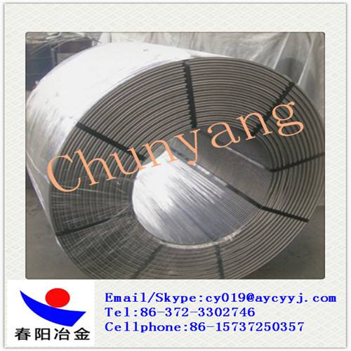 China SiCa CaFe SiAl Alloy Cored Wire Producer and exporter used in steelmaking