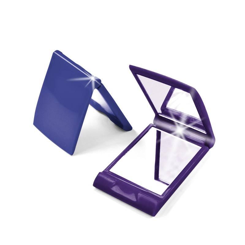 Plastic Framed LED Lighted Pocket Mirrors, Clamshell Design Sized 96.11.4cm