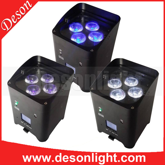 4x6in1 RGBW A UV Wifi battery remote control dmx led par LP-229