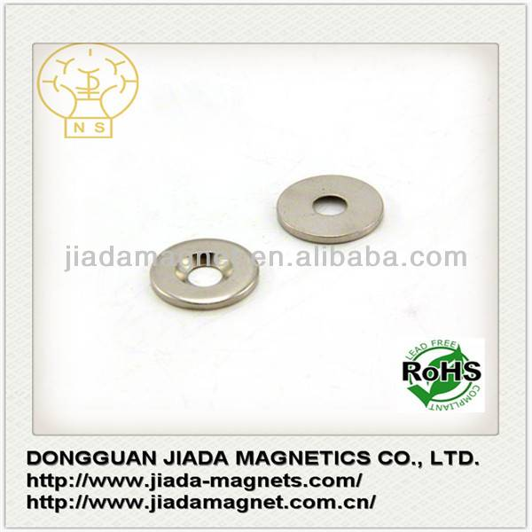 Neodymium N38SH Countersunk Hole D162mm NdFeB Magnets for Screw