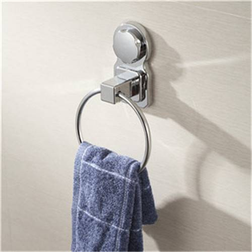 Wall Mounted Bathroomtowel Ring Chrome Finish with Suction