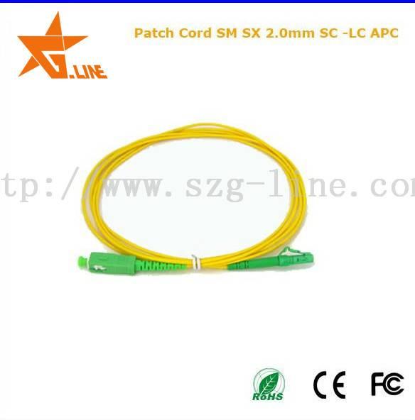 Telecom grade sc sm duplex waterproof Tensile Strength fiber optic patch cord,Good sales