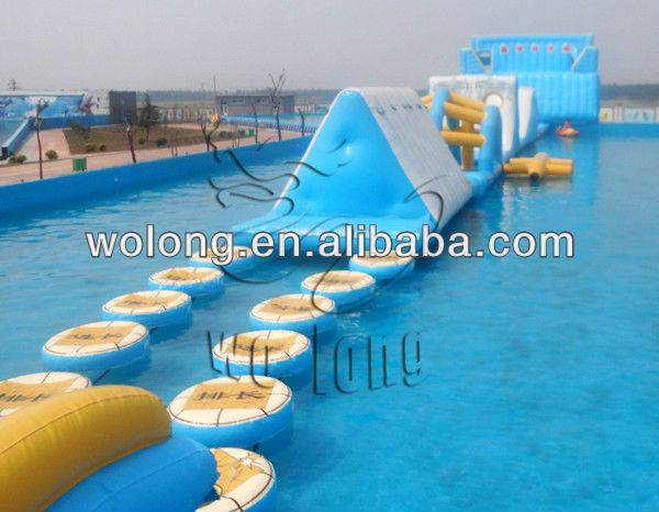 2013 New style Inflatable water obstacle course