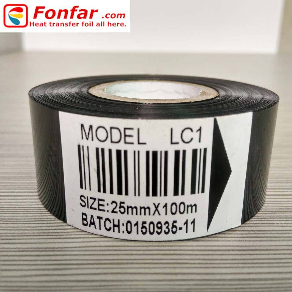 Hot Stamping Foil for Coding Date Printing LC1 25mm100m