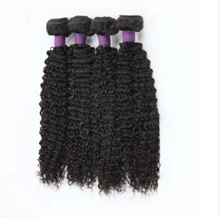 [9A]4 Bundles Brazilian Hair Weave Kinky Curly with 360 Lace frontal