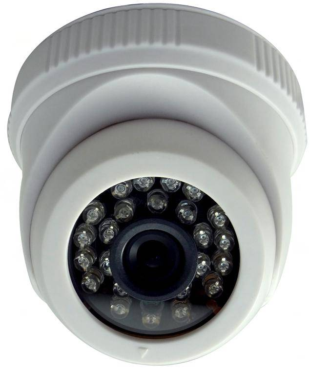 Plastic Home Surveillance IR Dome Camera