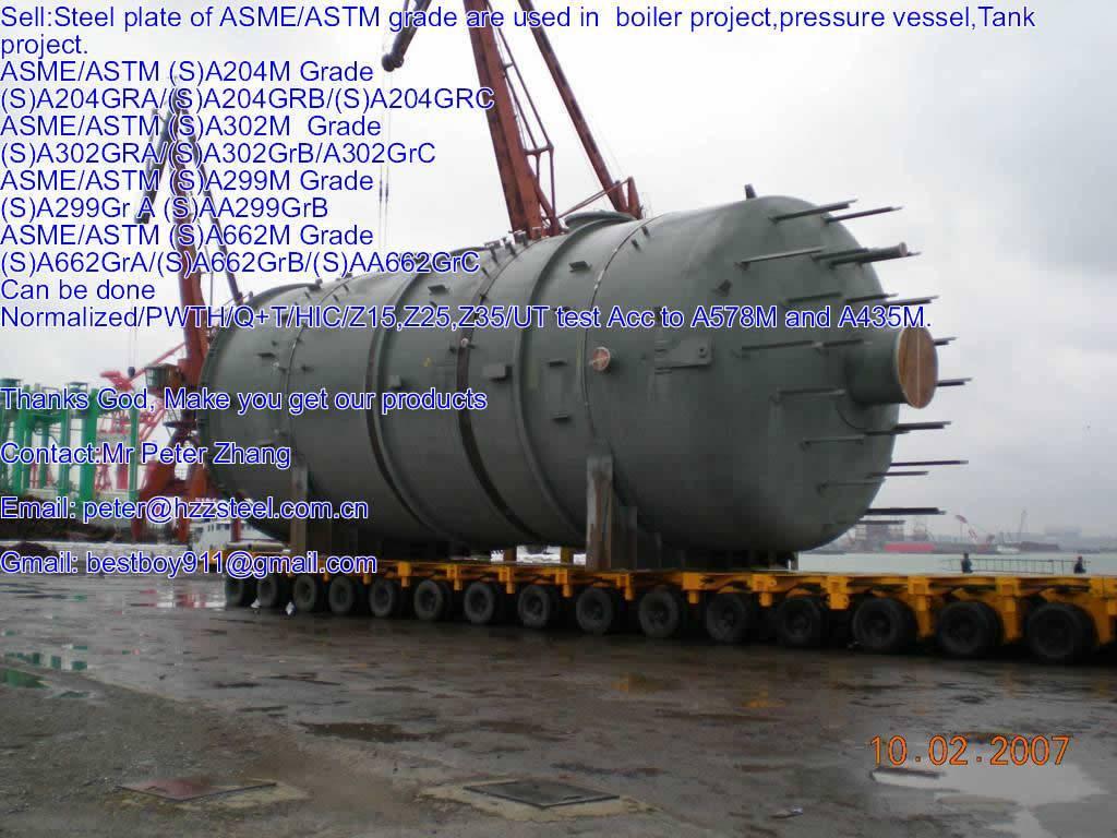 Sell :Spec ASTM/ASME SA662M steel plate,Grade,SA662GrA/B/C+HIC, A662GrA/B/C+N/Boiler steel plate