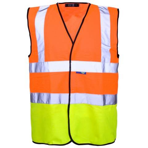 Hi Vis 2 Tone Vest construction vest