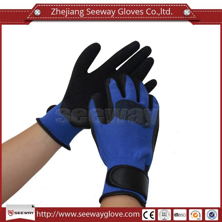 SeeWay New Latex Coated Gloves with strap