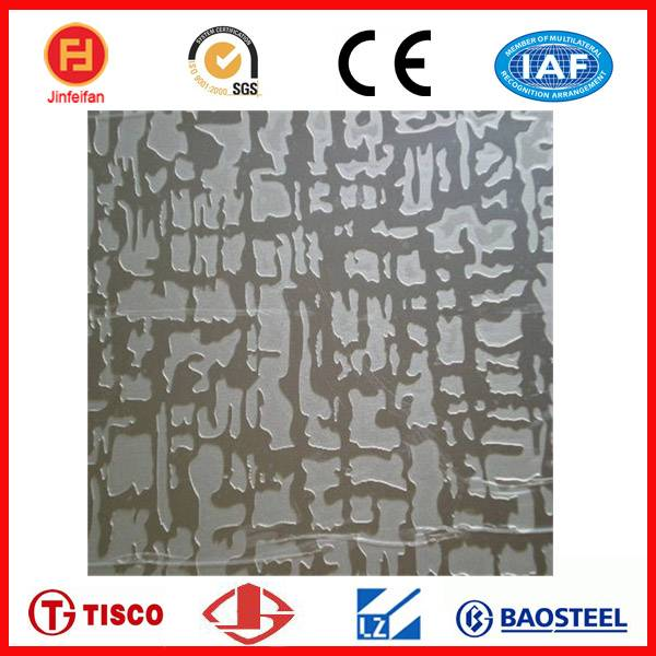 COLOR ETCHING SHEET OF STAINLESS STEEL