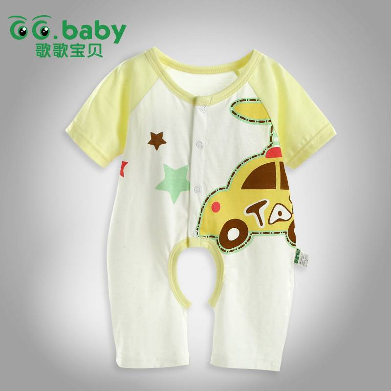 Summer 100% Cotton Unisex 0-24m Baby Body Suit And Baby Girl Romper Short Sleeve