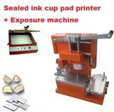 Sealed ink cup pad printer + polymer cliches making package,pad printing machine