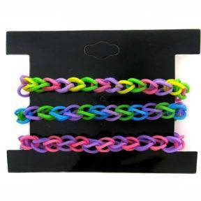 3.Silicone TPR loom bands to DIY your own rainbow bracelet