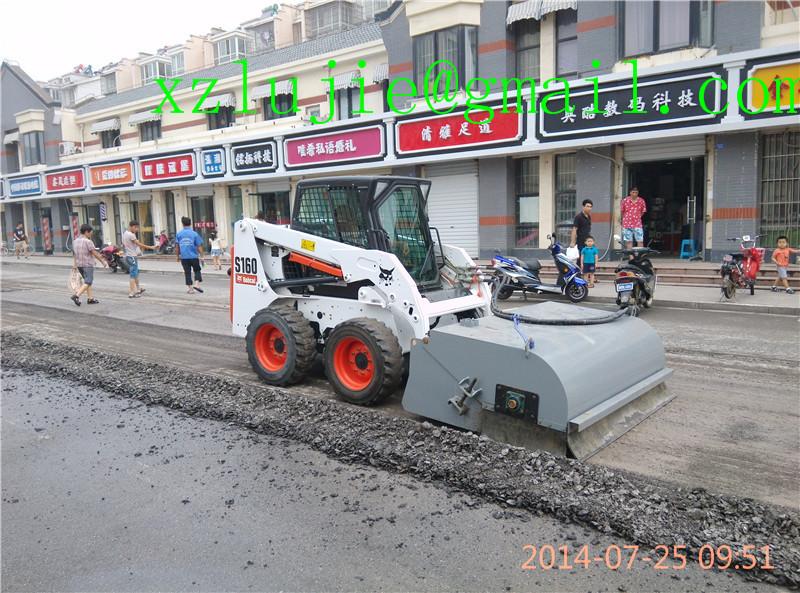 skid loader road sweeper brushes