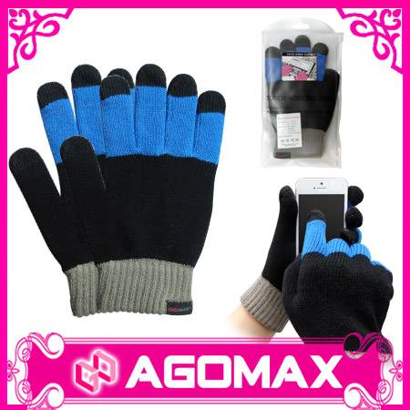 Fashion knitted finger touchscreen gloves
