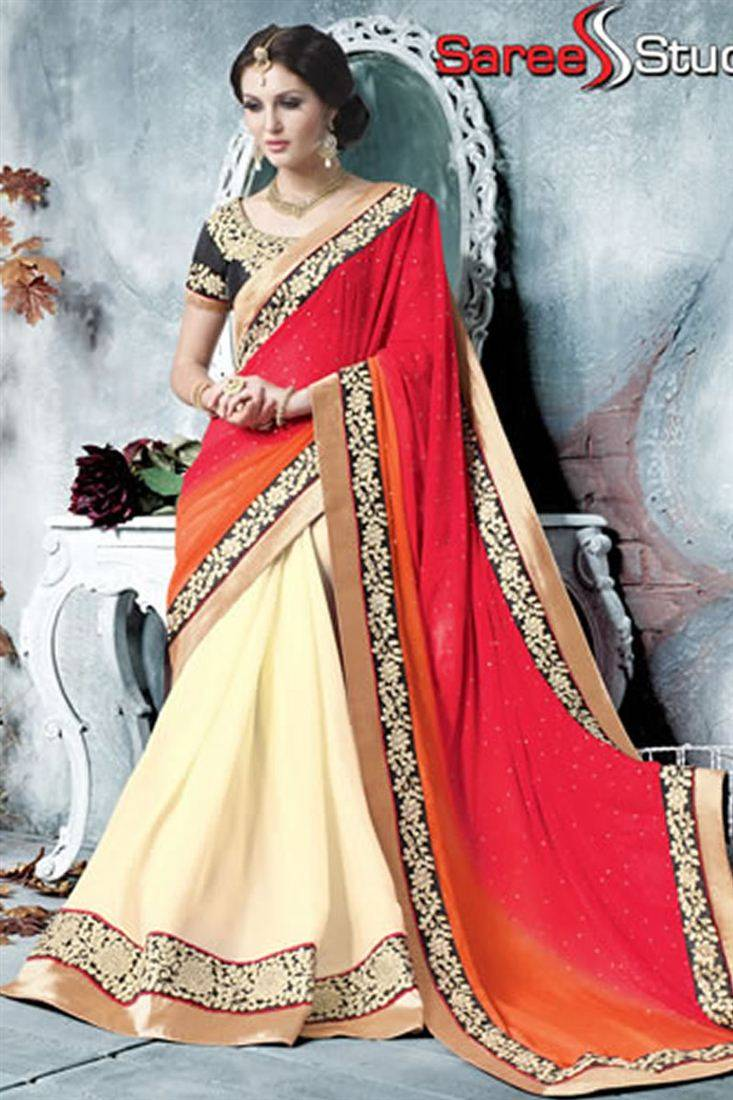 Fascinating Wedding Wear Georgette Saree
