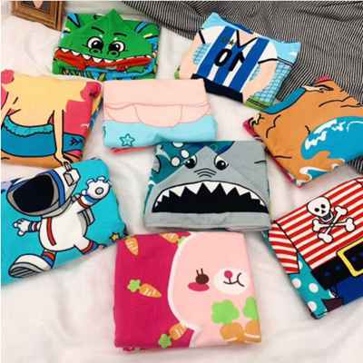 New children cartoon cute coat hooded, microfiber beach towel printed baby boys girls Swimming bath