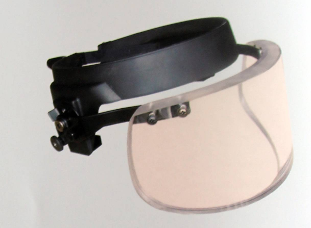 High-quality ballistic visor, light in weight