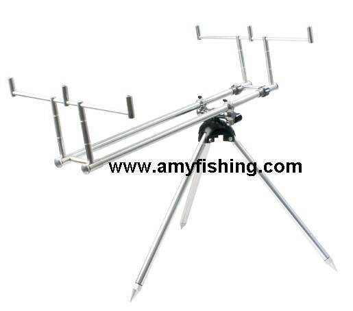 fishing rods pod, rod support, fishing rods, aluminum rod pod