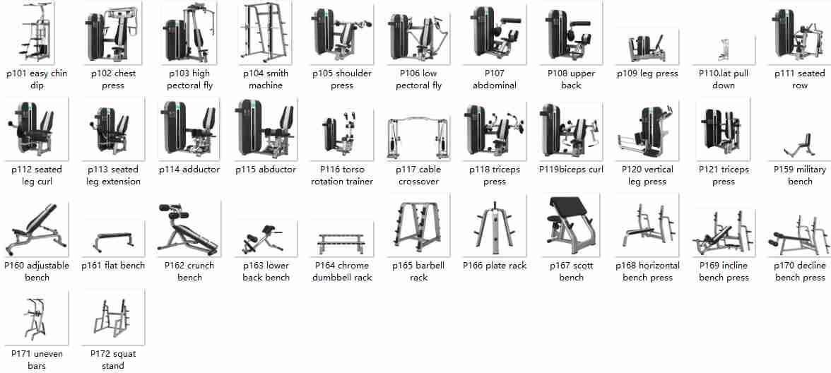 Bailih Utility Bench Press model P159 Commercial Gym Equipment Functional Trainer