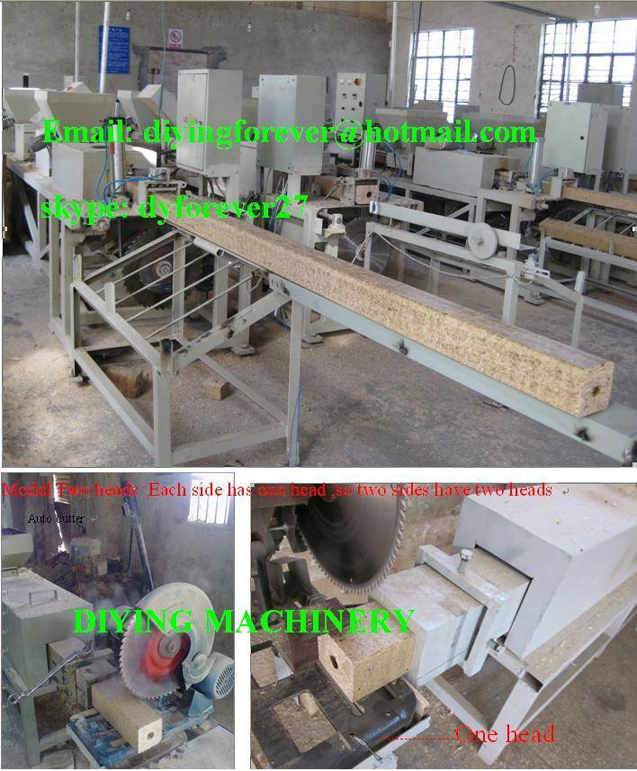 wood pallet block hot press machine , sawdust block pallet extruder machine