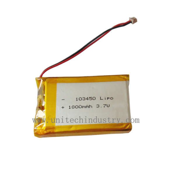 Rechargeable lithium polymer battery 103450 3.7V 1800mAh lipo batteries