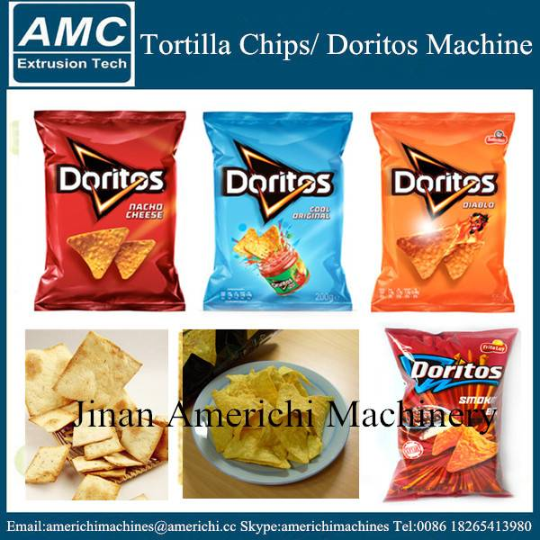 Tortilla corn chips making machine